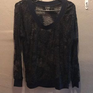 Daytrip black lace sweatshirt.